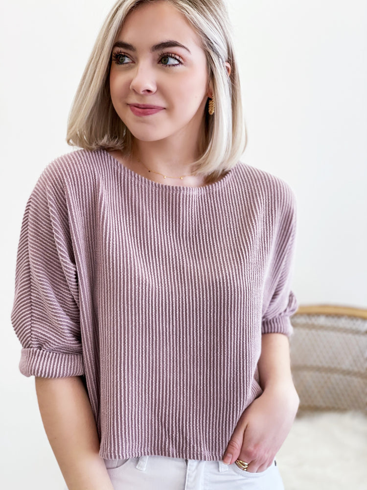 Kate Top- Dark Mauve