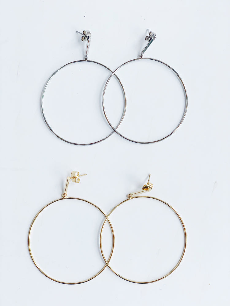 CIRCLE AND BAR EARRING