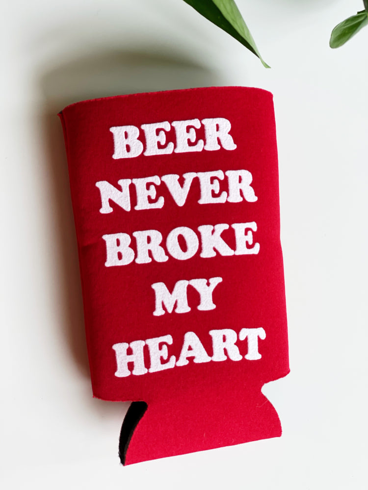 Beer Never Broke My Heart Coozie