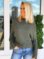 Stay With Me Top- Olive