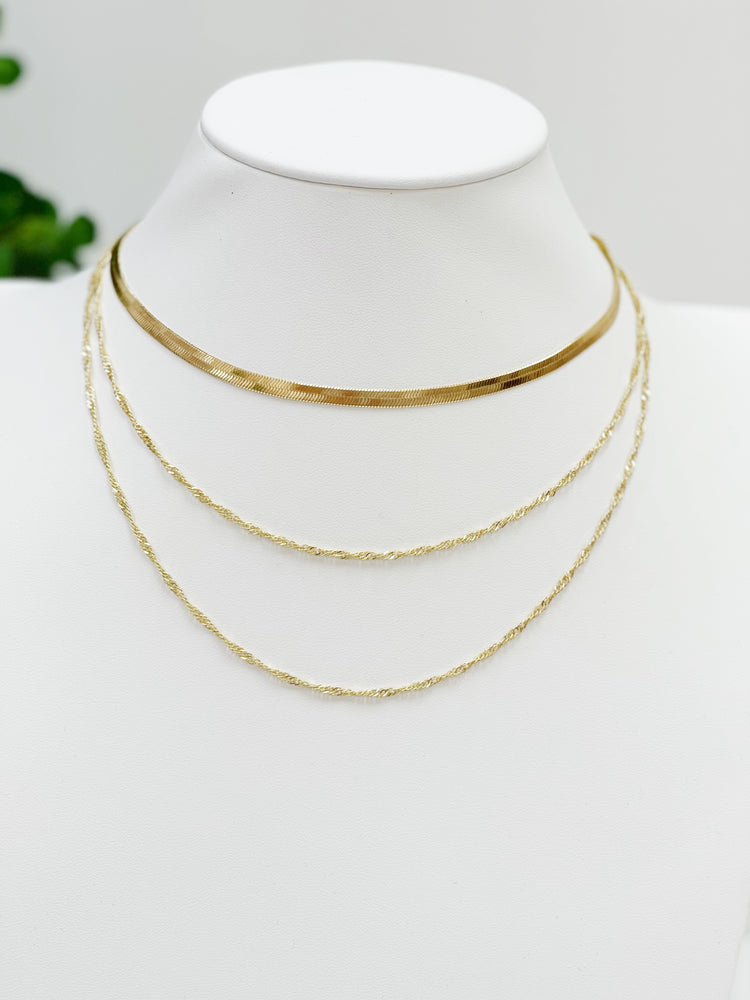 Triple Crown Necklace- Gold