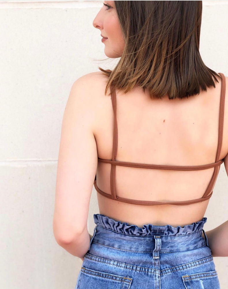 STRAPPED BANDEAU