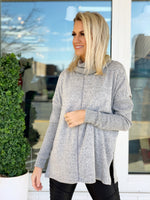 Linda Top- Heather Grey