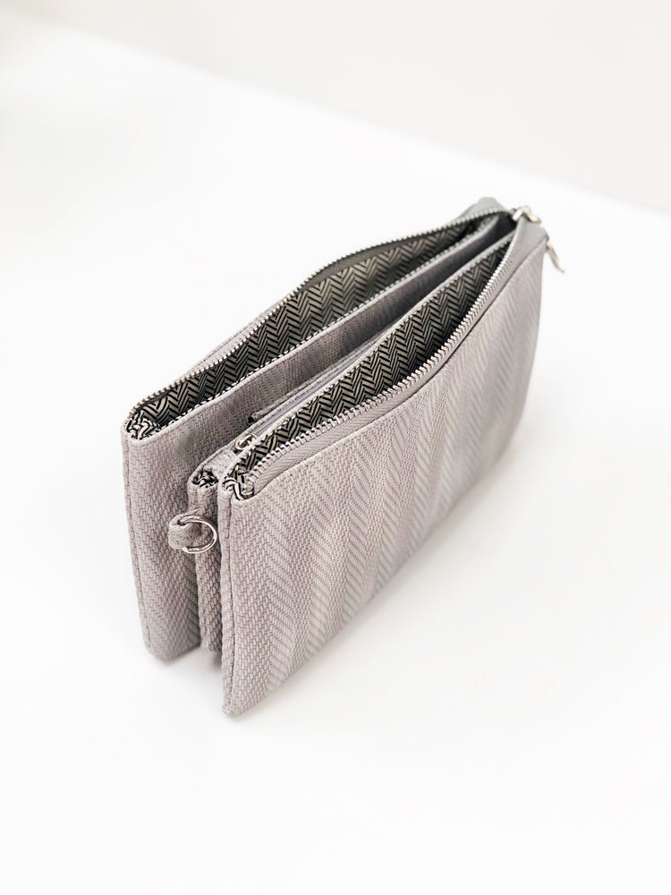 Isabel Harringbone Wristlet Crossbody