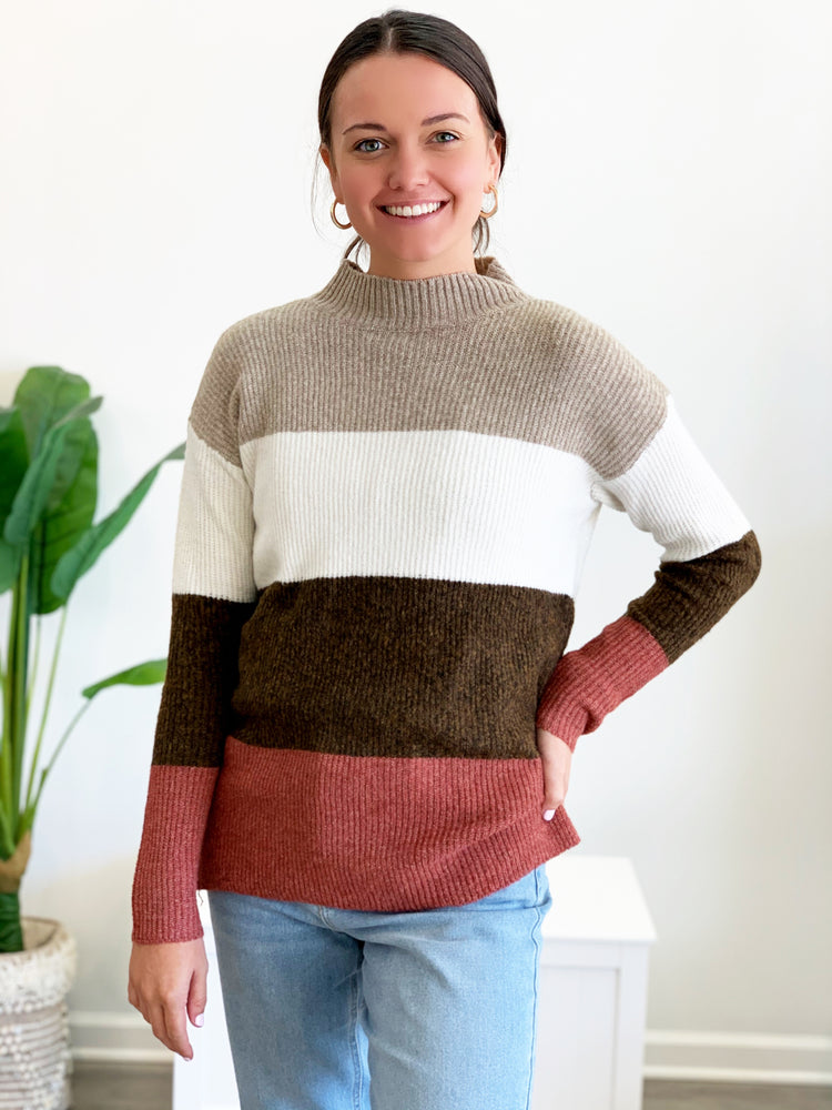 Tatum Sweater- Taupe