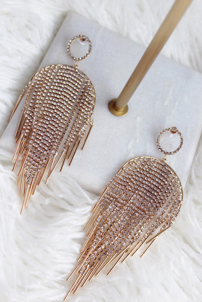 CIRCLE AND TASSEL EARRING