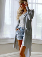 Rest Assured Cardigan- Heather Grey