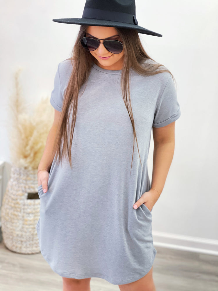 Self Love Dress- Grey