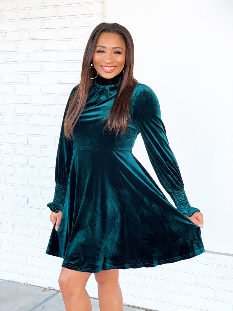 Learning to Fly Dress- Emerald