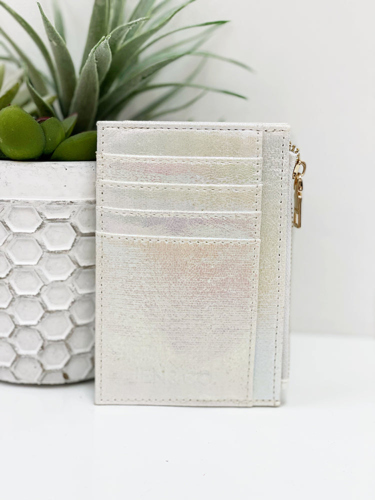 Sia Card Holder Wallet- Pearl