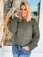 Katie Knit Sweater- Olive