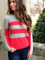 BLOCK STRIPE PULLOVER