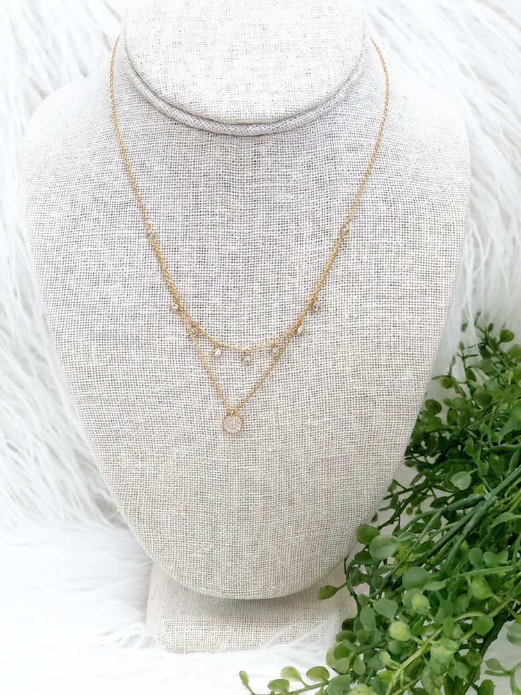 PAVE LAYERED NECKLACE