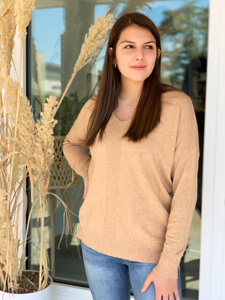 Shop Small Sweater- Oatmeal