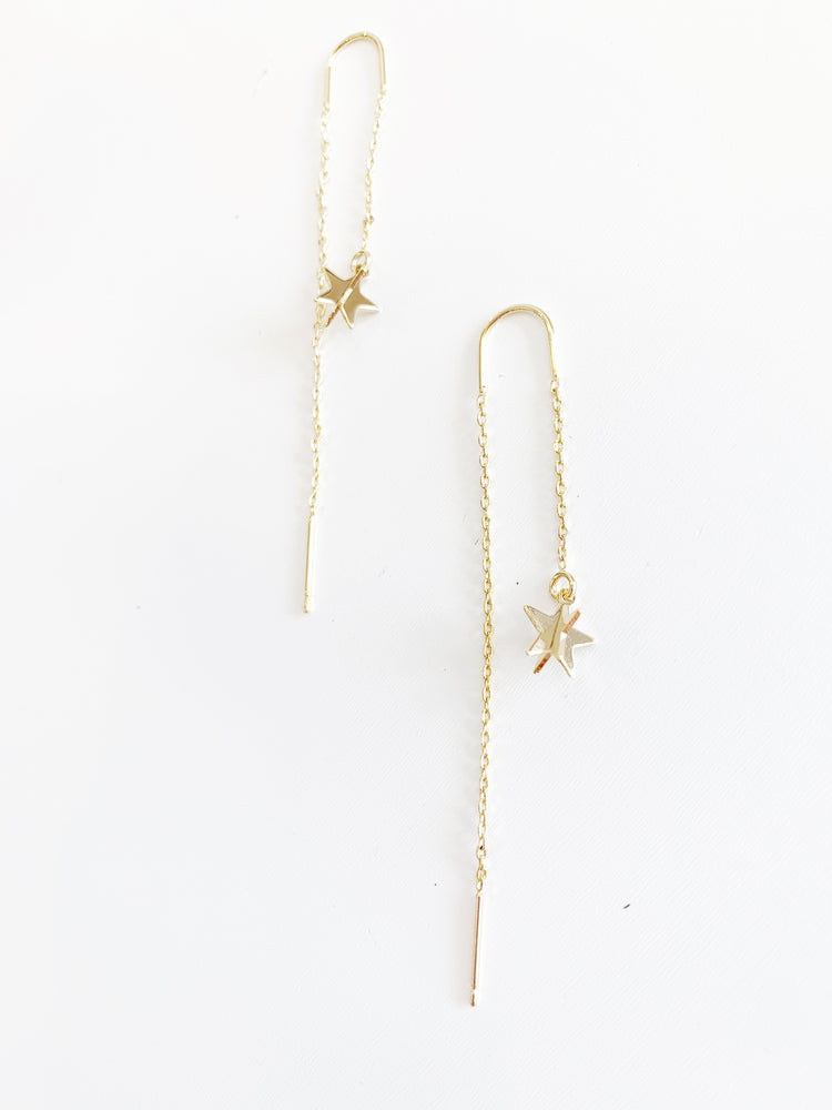 STAR AND ROW DROP EARRING