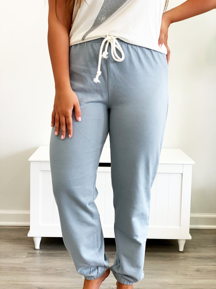 Million Dollar Baby Sweatpants- Sky Blue