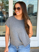 Elizabeth Top- Heather Grey