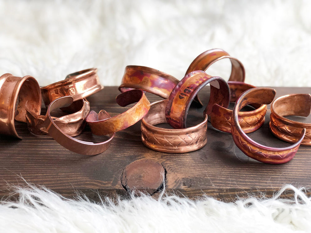 HANDWROUGHT COPPER CUFF