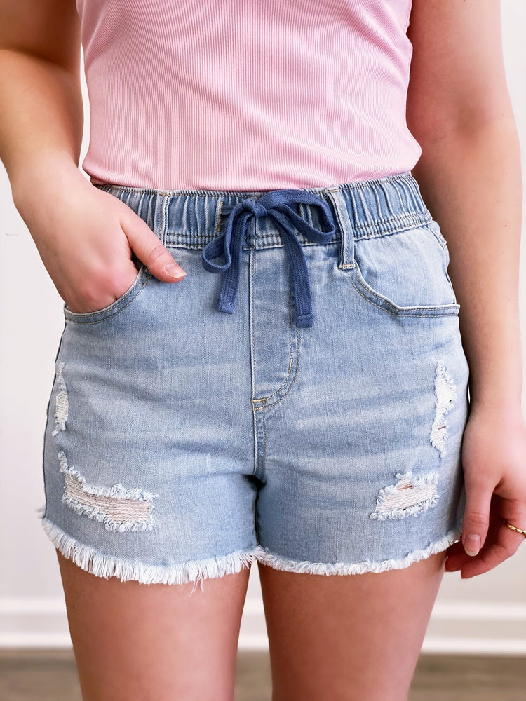 Haley Denim Shorts- Light