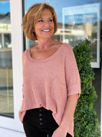 Lacey Sweater- Mauve