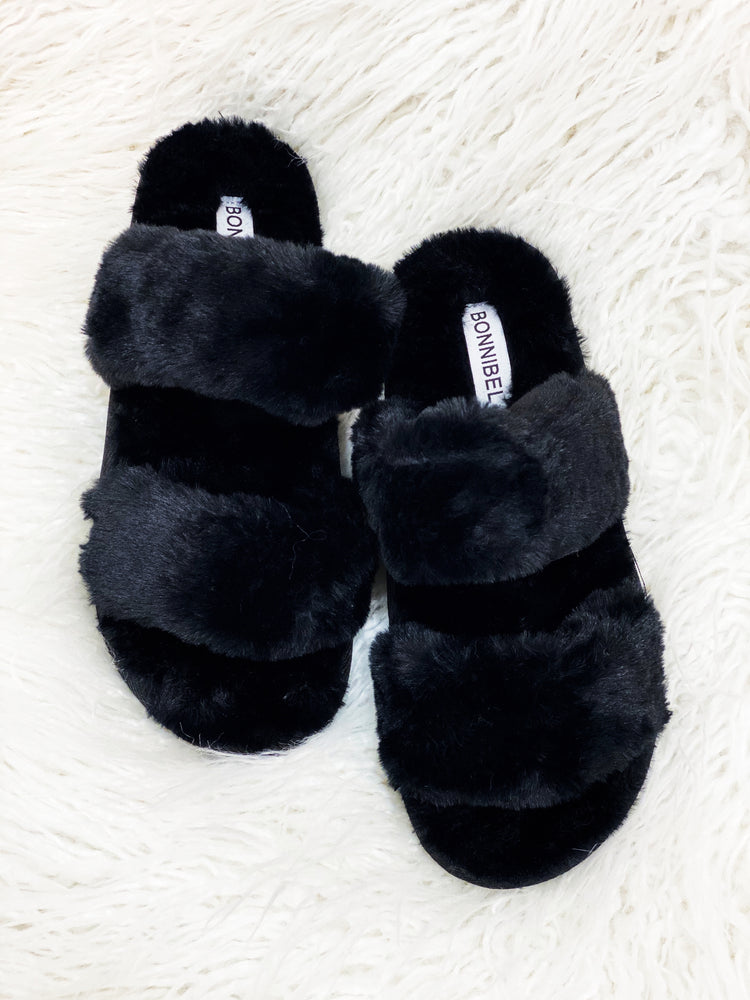 Rhianna Slippers- Black