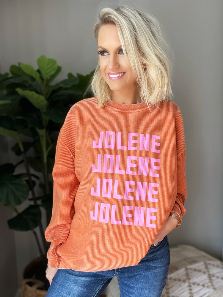 Jolene Sweatshirt- Poppy Orange