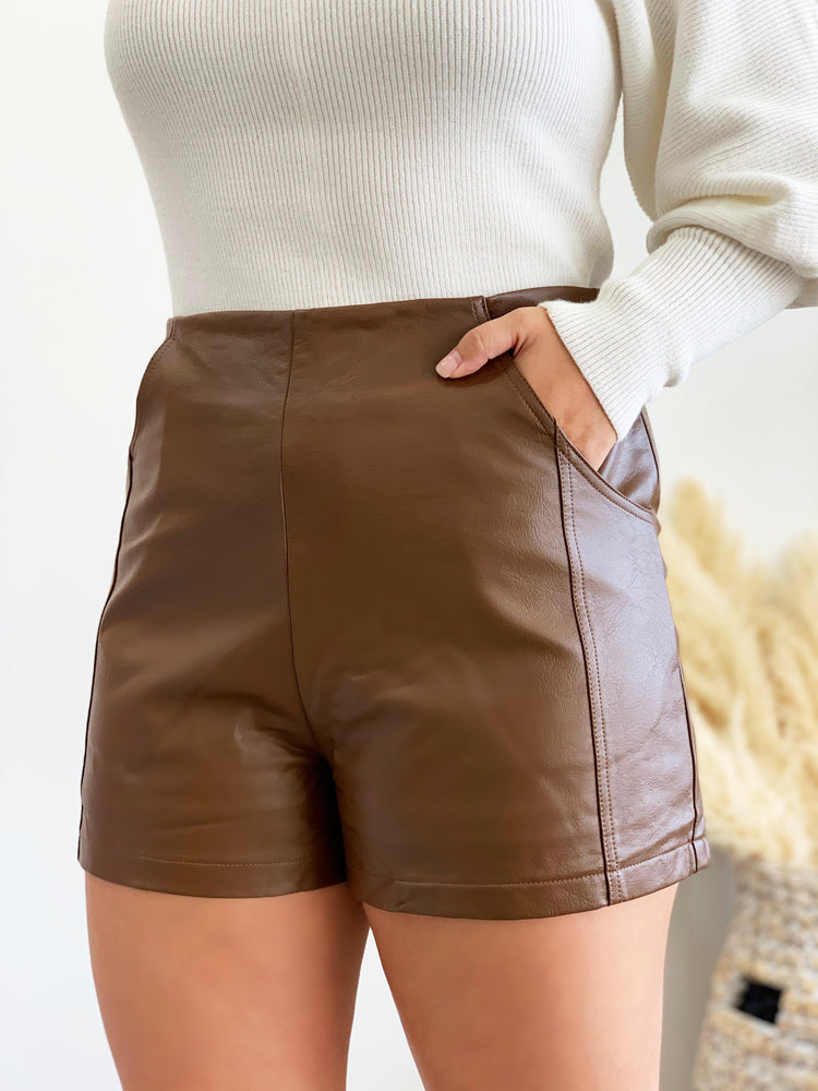 Charlotte Shorts- Brown