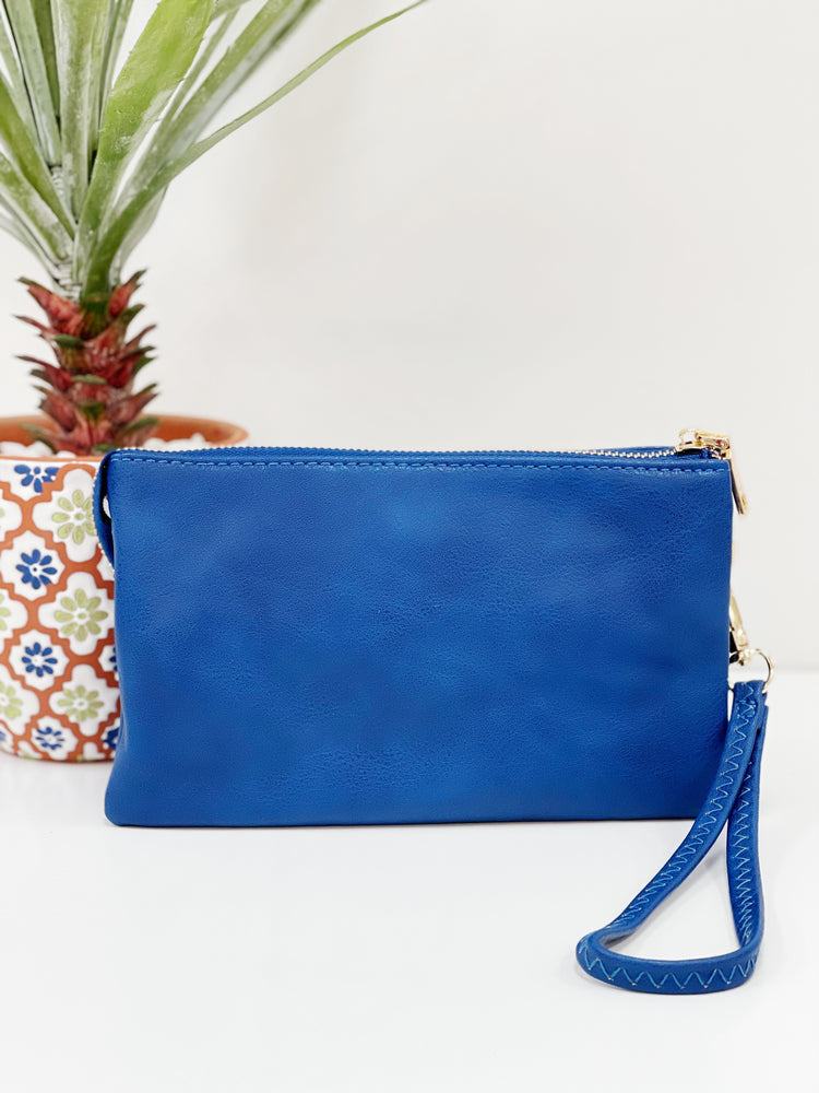 Riley Wristlet Crossbody- Royal Blue