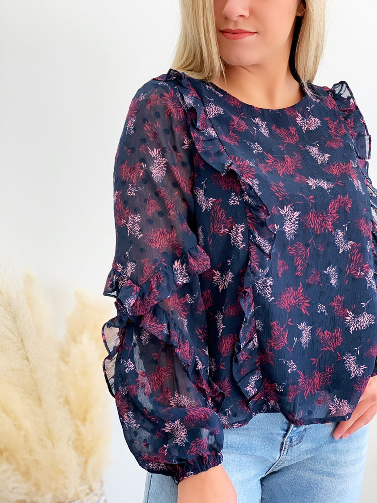 Twilight Ruffle Blouse