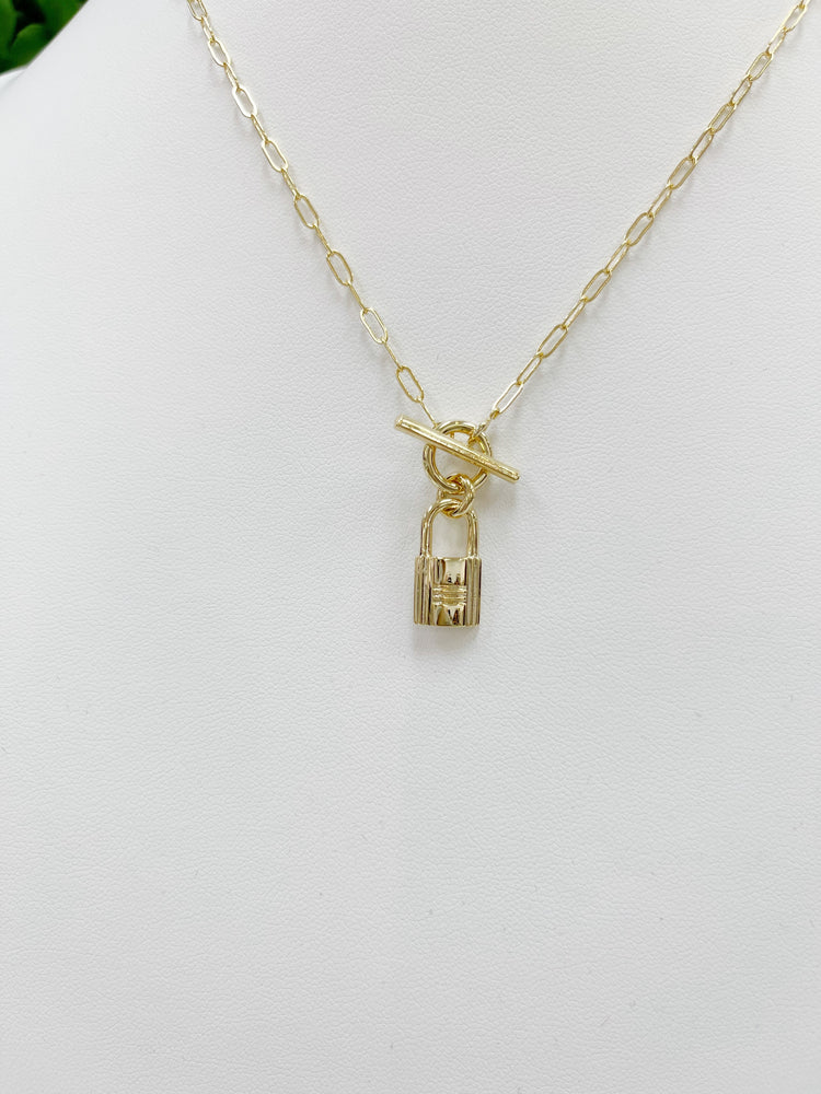 Locked Out Necklace- Gold