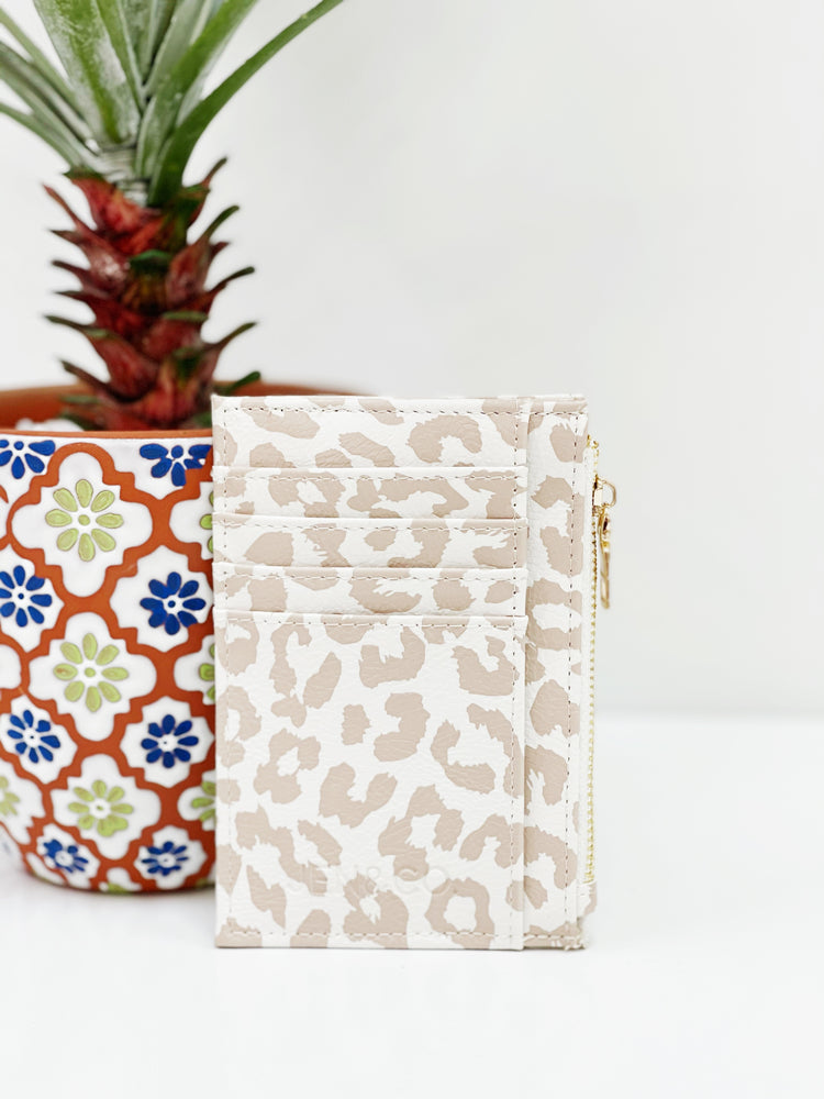 Sia Card Holder Wallet- Cheetah Nude