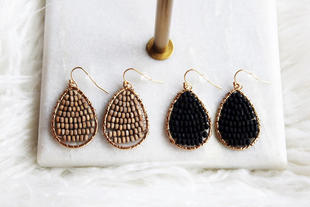 BEAD WORK EARRING