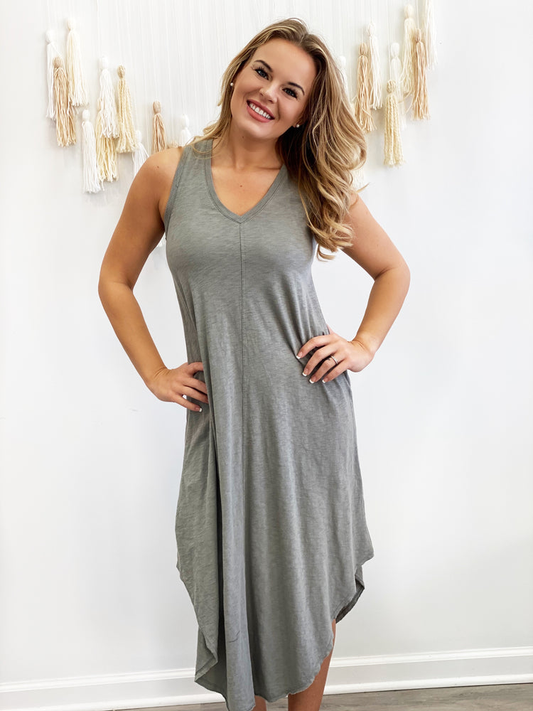 The Reverie Dress- Dusty Sage
