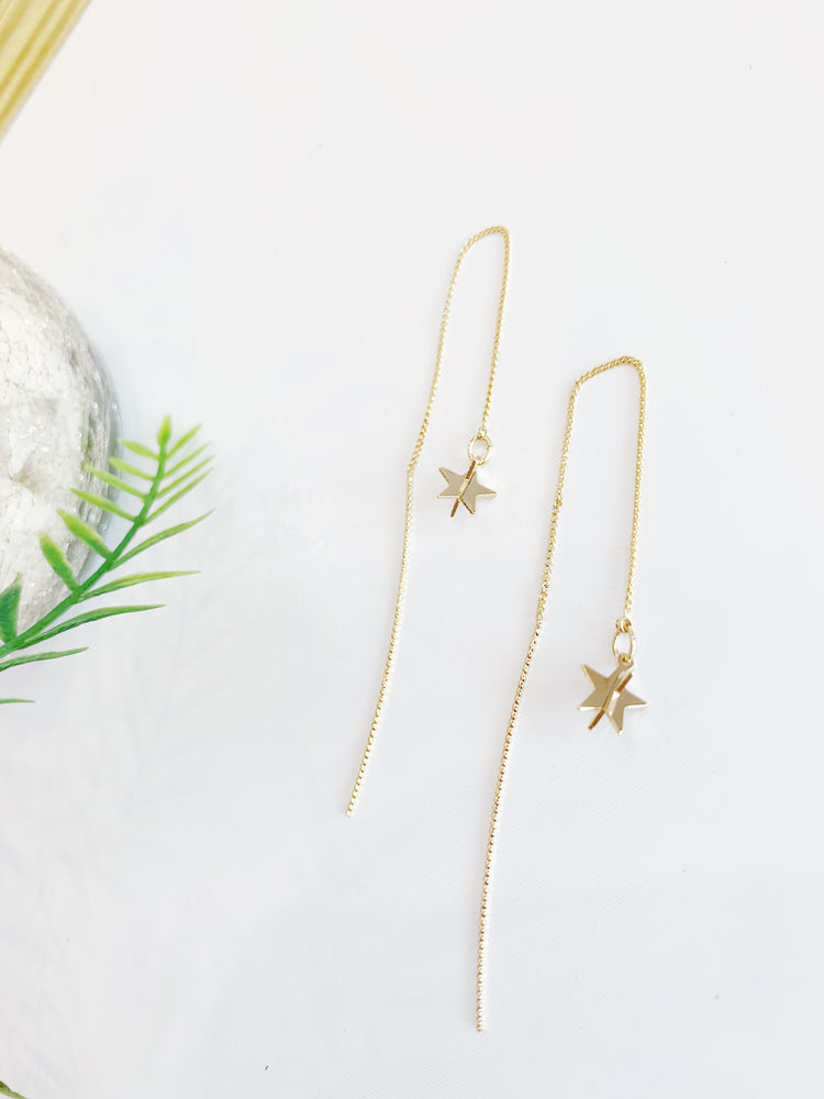 STAR AND ROW EARRING