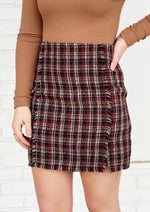 Paperback Writer Plaid Skirt