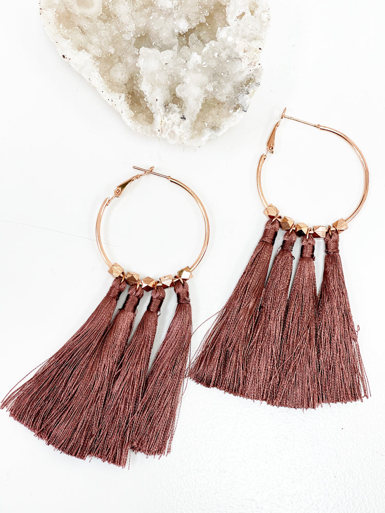 Althea Earrings- Rose Gold/ Bronze