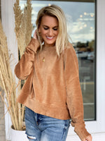 Astrid Cord Pullover- Camel