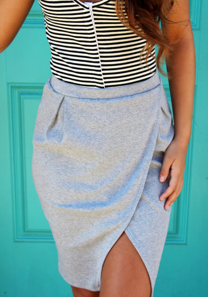 HEATHER SLIT SKIRT