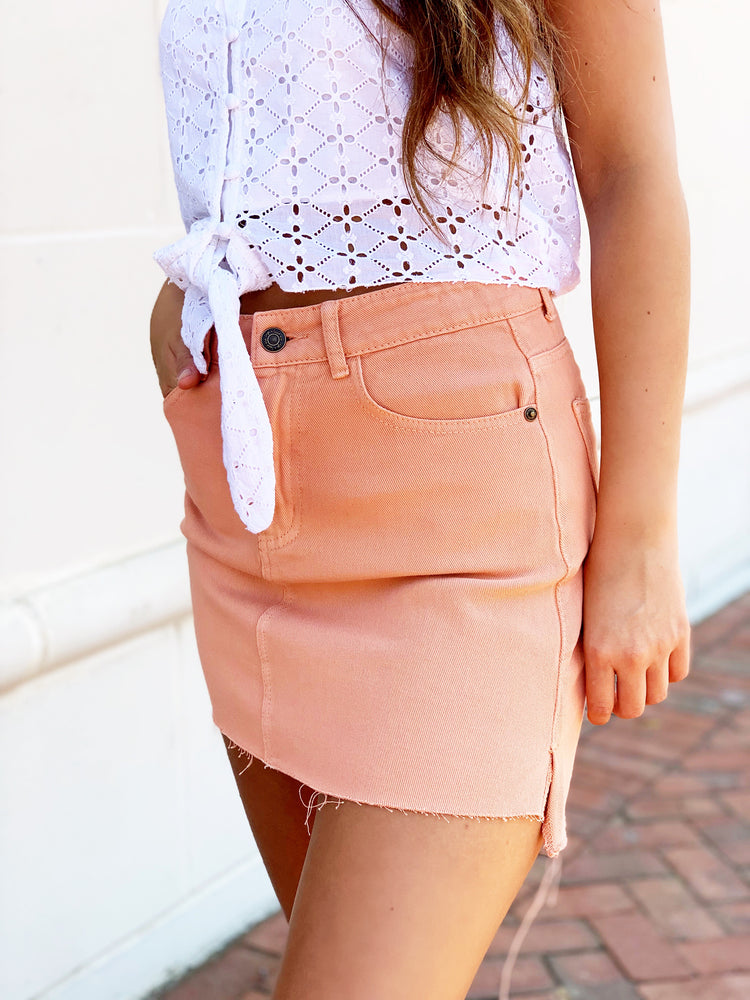 JUST PEACHY SKIRT