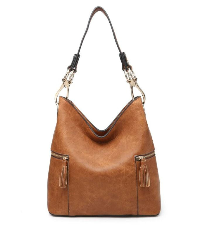 Rochelle Hobo Bag-Brown