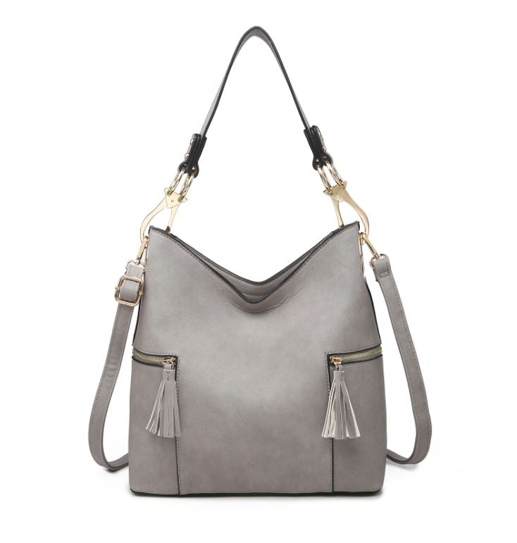 Rochelle Hobo Bag- Grey