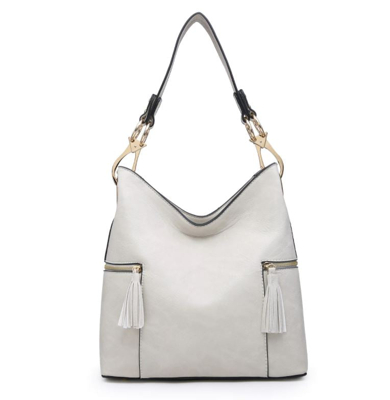 Rochelle Hobo Bag- Ivory