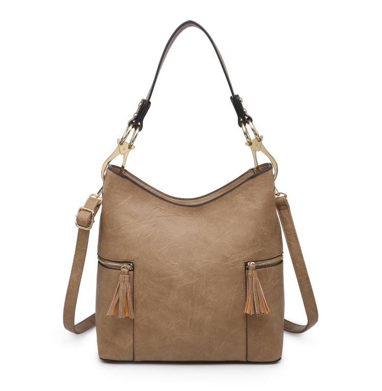 Rochelle Hobo Bag- Taupe