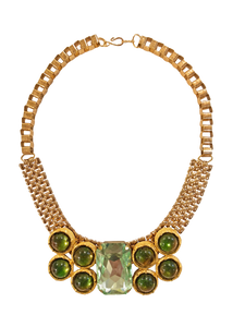Green and gold collar necklace <br> RRP $350 <br> now 50% off <br> SALE PRICE $175