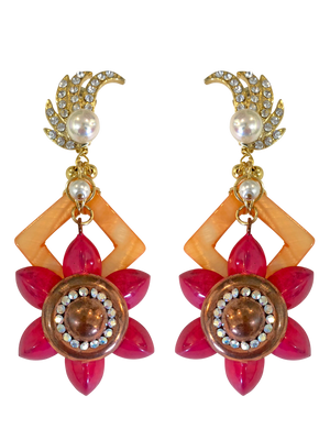 Pink & Orange earrings RRP $265 <BR> now 60% off <BR> SALE PRICE $106