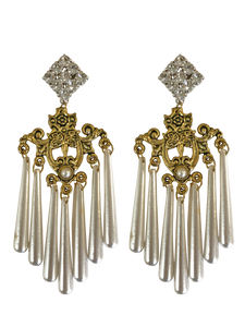 Chandelier earrings RRP $285 <BR> now 60% off <BR> SALE PRICE $114
