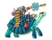 Battle Turtle Mark II Signed Print