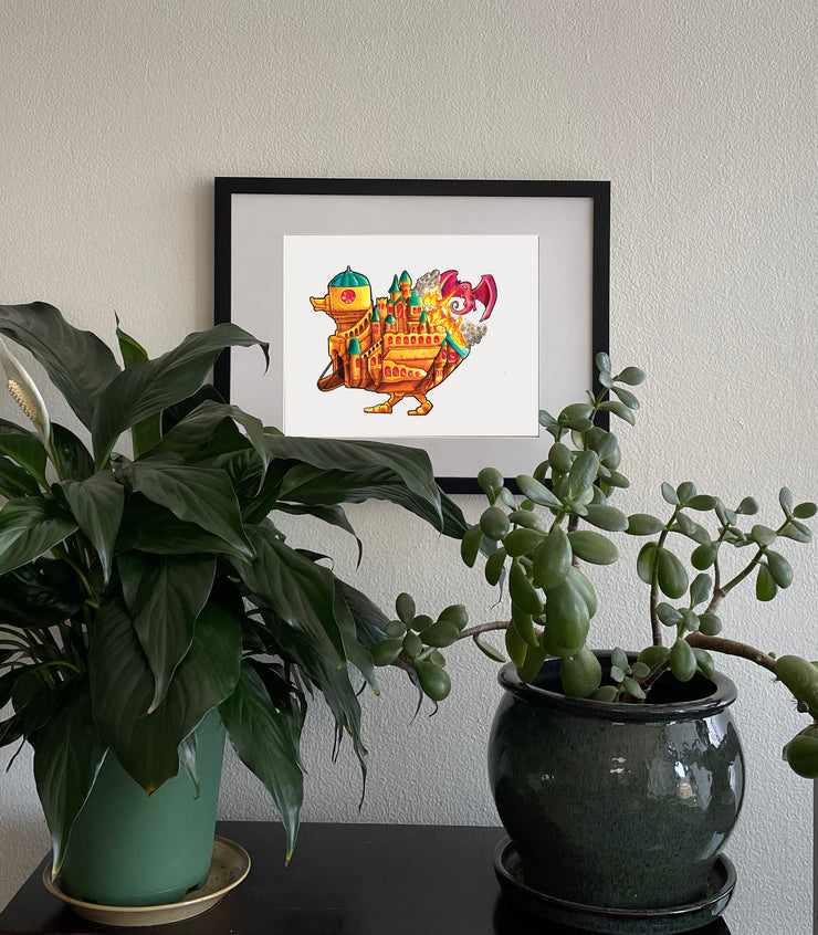 Castle Duckie Signed Print