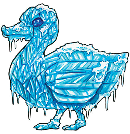 Ice Duckie Signed Print