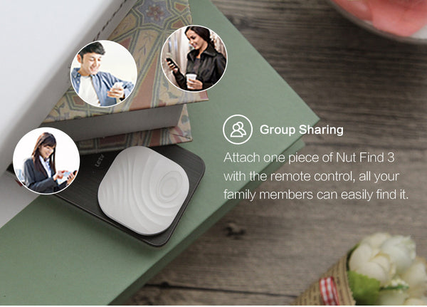 Nut find 3-- Anti-lose and smart finder, never lose anything. White